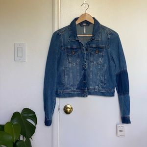 NWT Free People Rumors Denim Jacket